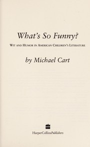 Cover of: What's so funny? | Michael Cart