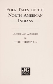Cover of: Folk Tales of the North American Indians