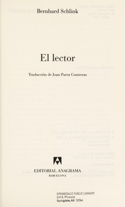 Cover of: El lector