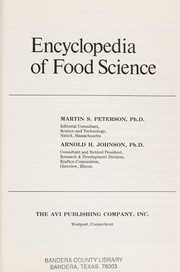 Cover of: Encyclopedia of food science