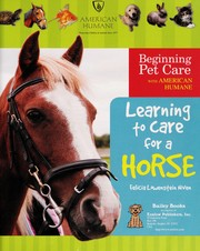 Cover of: Learning to care for a horse
