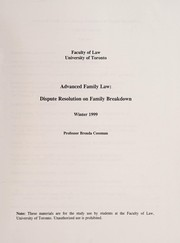 Cover of: Advanced family law