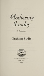 Cover of: Mothering Sunday