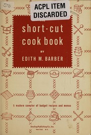 Cover of: The short-cut cook book | Edith M. Barber