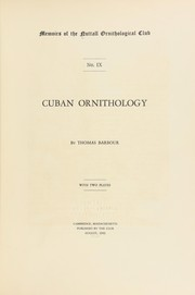 Cover of: Cuban ornithology