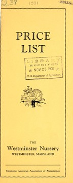 Cover of: Price list, issued August 1st, 1931