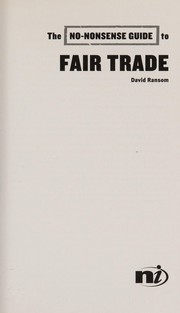 Cover of: The no-nonsense guide to fair trade | David Ransom