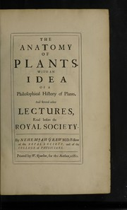 Cover of: The anatomy of plants