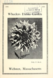 Cover of: Wheelers Dahlia Garden, 1931 | Wheeler
