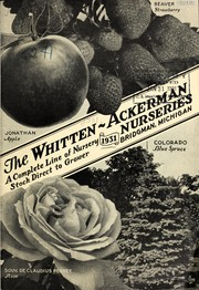 Cover of: A complete line of nursery stock direct to growers, 1931 | C.E. Whitten