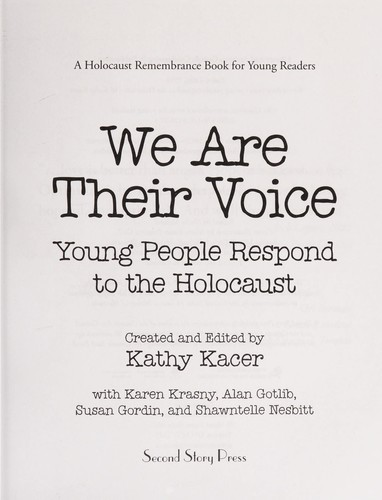 We are their voice by Kathy Kacer