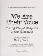 Cover of: We are their voice | Kathy Kacer