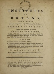 Cover of: Institutes of botany