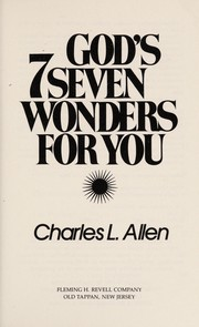 Cover of: God's seven wonders for you