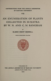 Cover of: An enumeration of plants collected in Sumatra by W. N. and C. M. Bangham