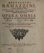 Cover of: Opera omnia medica et physiologica