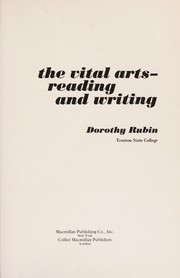 Cover of: The vital arts | Dorothy Rubin