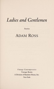 Cover of: Ladies and Gentlemen