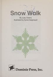 Cover of: Snow walk