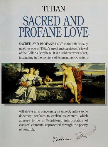 Titian, Sacred and profane love (2000 edition) | Open Library