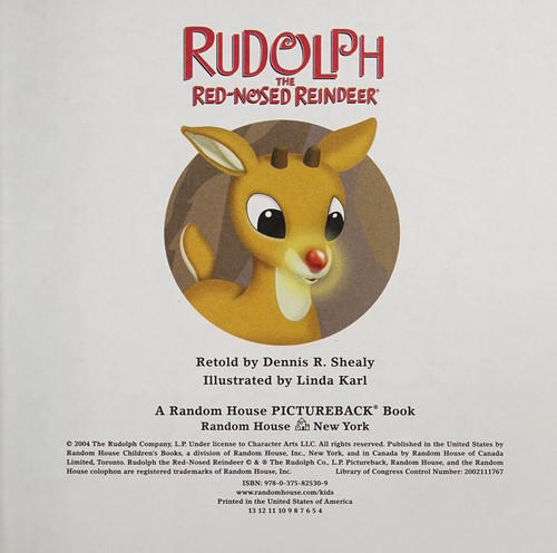 Rudolph the red-nosed reindeer by Dennis R. Shealy