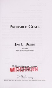 Cover of: Probable claus | Jon L. Breen