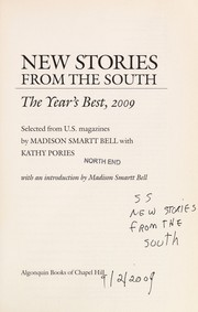 Cover of: New stories from the South