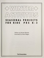 Cover of: Winter activities | Denise Bieniek