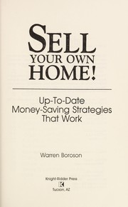 Cover of: Sell your own home!