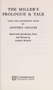 The miller's prologue & tale from the Canterbury tales