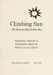 Cover of: Climbing Sun | Marjorie Thayer