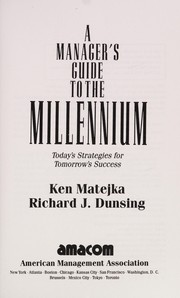 Cover of: A manager's guide to the millennium | Ken Matejka