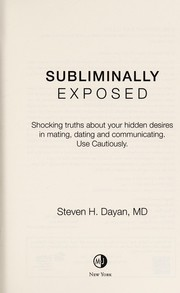 Cover of: Subliminally exposed | Steven Dayan