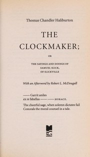 Cover of: The clockmaker | Thomas Chandler Haliburton