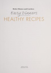 Cover of: Easy dinners | Better Homes and Gardens