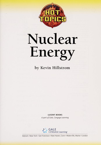 Nuclear energy by Kevin Hillstrom