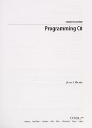 Cover of: Programming C# | Jesse Liberty