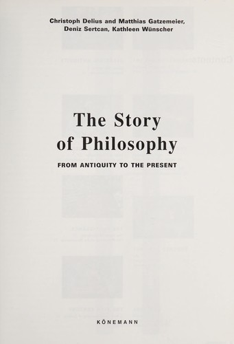 The story of philosophy by Christoph Delius