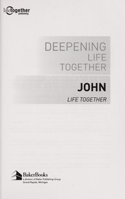 Cover of: Deepening life together |