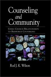 Cover of: Counseling and community