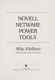 Cover of: Novell NetWare power tools