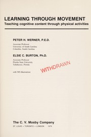 Cover of: Learning through movement | Peter H. Werner