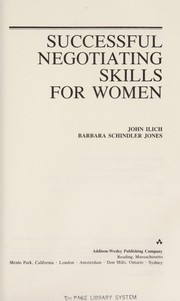 Cover of: Successful negotiating skills for women