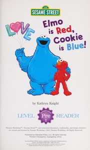 Elmo is red, Cookie is blue!