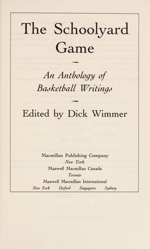 The Schoolyard game by edited by Dick Wimmer.