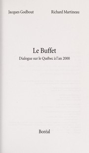 Cover of: Le buffet