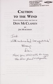 Cover of: Caution to the wind | Joe Murchison