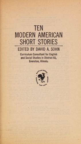 Ten modern American short stories by David A. Sohn