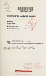 Cover of: Observing the language learner |