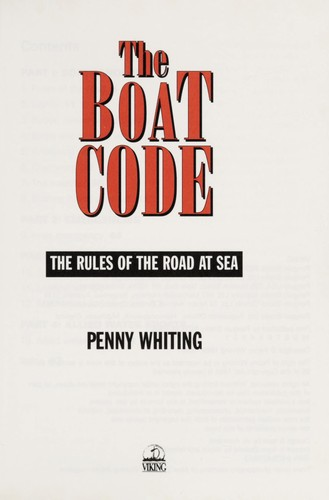 The boat code by Penny Whiting